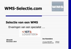 Selectie van een WMS: ervaringen van een specialist