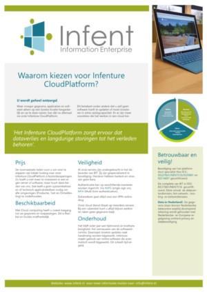 Waarom kiezen voor Infenture Cloud Platform?