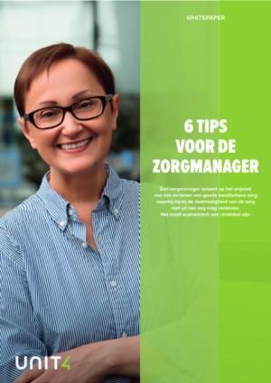 6 Tips voor de zorgmanager