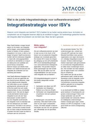 De juiste integratiestrategie voor softwareleveranciers belicht