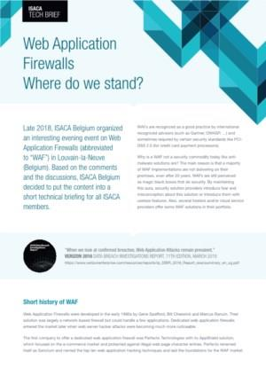 Web Application Firewalls: where do we stand?
