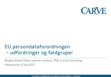 KEYNOTE: Udfordringer og faldgruber i persondataforordningen