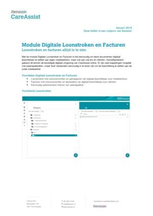 CareAssist Digitale loonstroken en facturen