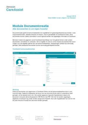 CareAssist Documentcreatie