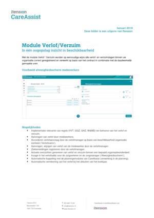 CareAssist Verlof / Verzuim