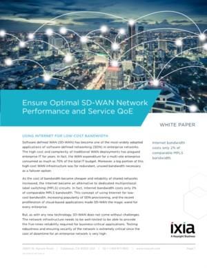 Ensure Optimal SD-WAN Network Performance and Service QoE