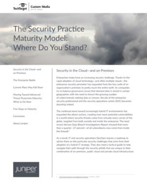 The Security Practice Maturity Model: Where Do You Stand?
