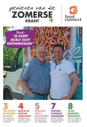 Genieten van de zomerse krant van Food Connect