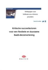 Software-as-a-Service (SaaS) providers: succesfactoren voor de dienstverlening