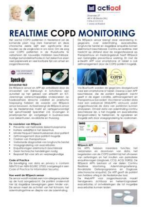 Respeck sensor voor COPD monitoring