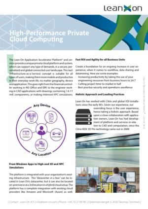 High-Performance Private Cloud Computing