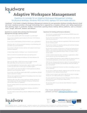 Welke vragen moet je overwegen voor een Adaptive Workspace Management strategie?