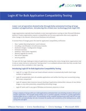 Login AT - bulk application compatibility testing