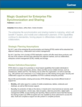Gartner's Magic Quadrant voor Enterprise File Synchronization and Sharing (EFSS)