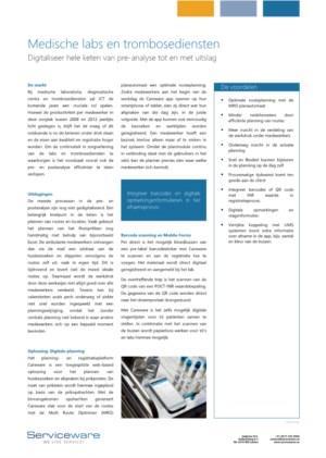 Careware voor medische labs en trombosediensten