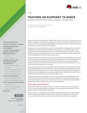 Digitale Transformatie E-book: digitaal Darwinisme en hoe je een olifant leert dansen