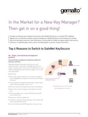 Op zoek naar een nieuwe Key Manager?