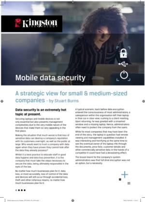 Mobile data security - A strategic view for small & medium-sized companies
