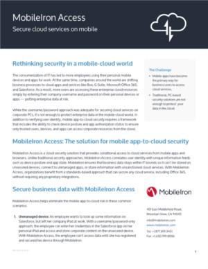 Secure cloud services on mobile