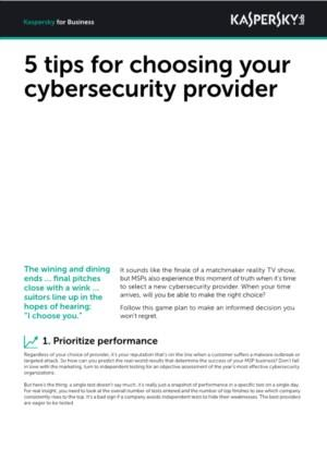 5 Tips voor Managed Service Providers (MSP's): de juiste cyber security provider kiezen
