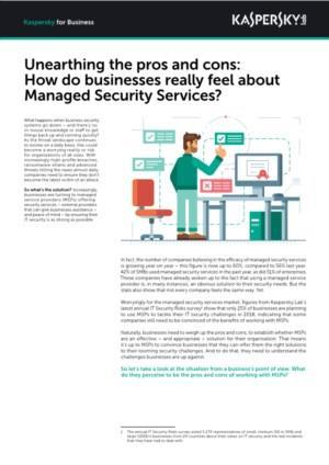 Voors en tegens: hoe denken bedrijven echt over Managed Security Services?