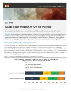 Multi-Cloud strategies are on rise