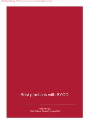 Best practices with BYOD