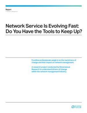 Netwerk service ontwikkeld zich snel: Heb jij de tools om dit bij te houden?