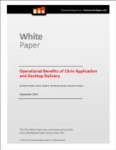 De operationele voordelen van Desktop Virtualisatie en application delivery oplossingen van Citrix