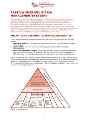 Past uw FMIS wel bij uw managementsysteem?