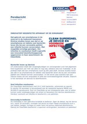 Innovatief desinfectie apparaat beschermt patiënten