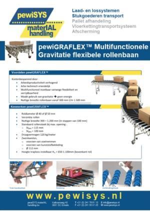 pewiGRAFLEX, zwaartekracht flexibele rollenbaan