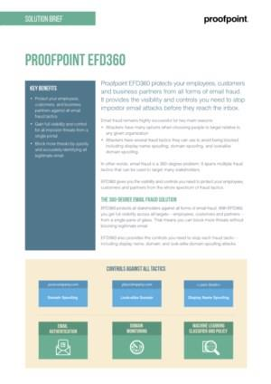 Proofpoint Email Fraud Defense EFD 360