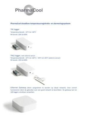 PharmaCool temperatuurregistratie- en alarmeringssysteem