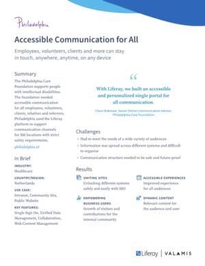 Toegankelijke communicatie voor alle doelgroepen: medewerkers, vrijwilligers, cliënten, verwanten en verwijzers