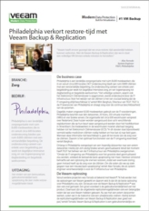 Zeer snelle restore-tijd van cruciale zorgapplicaties dankzij betrouwbare back-up en replicatie-oplossing