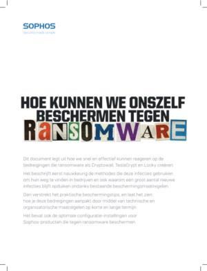Hoe kunnen we onszelf beschermen tegen Ransomware?