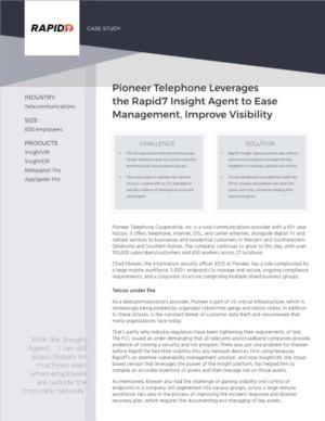 Rapid7 Case Study Pioneer (Telecommunications)