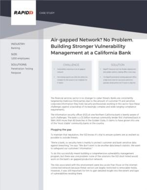Rapid7 vulnerability scanning on an air-gapped network