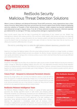 RedSocks Security Malicious Threat Detection and GDPR
