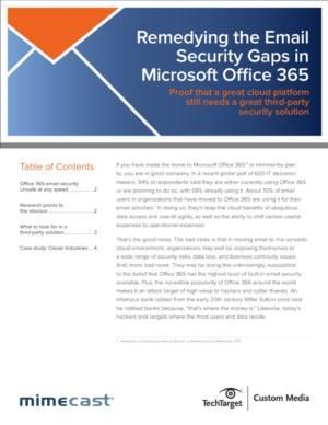 Elimineer de Email Security risico's van Microsoft Office 365