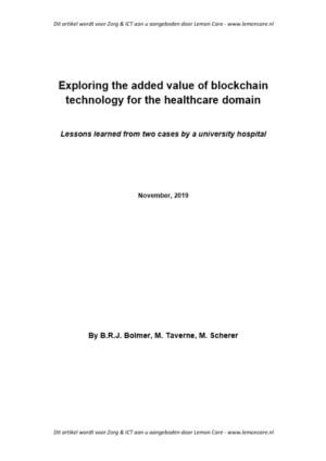 Lessons learned from exploring blockchain opportunities in the healthcare domain