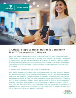 3 Critical Steps to Retail Business Continuity