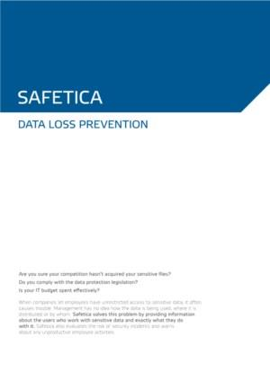 Safetica DLP Dataloss Prevention