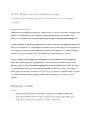 De ransomware van (bijna) zes miljoen dollar onderzocht: SamSam