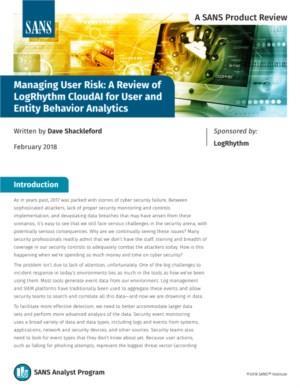 Gebruikersrisico's beheren: een review van LogRhythm CloudAI voor User and Entity Behavior Analytics (UEBA)