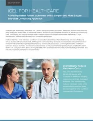 Betere patienten uitkomsten met een eenvoudige en veilige eindgebruiker oplossing