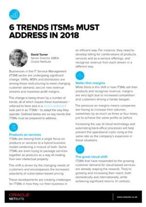 6 trends waar ITSM's na 2018 niet onderuit kunnen