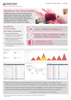 SmartEvent: Full Threat Visibility