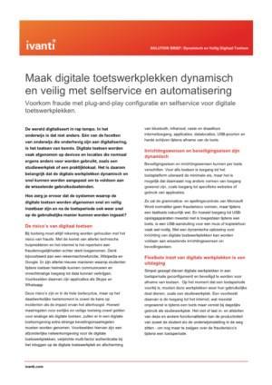Maak digitale toetswerkplekken dynamisch en veilig met selfservice en automatisering